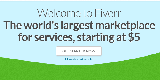Outsourcing using fiverr is easy