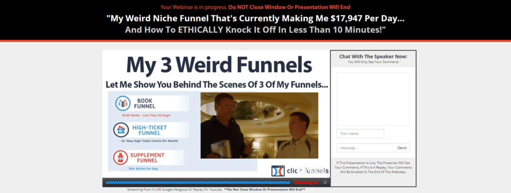 Funnelhacks review webinar
