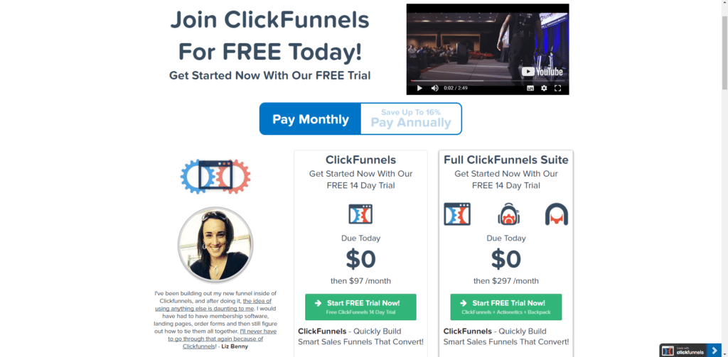 clickfunnels price