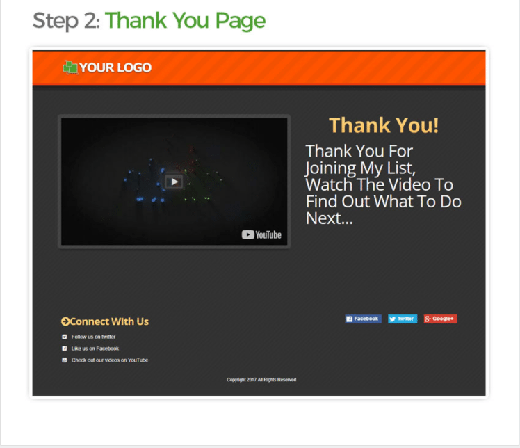 clickfunnels thank you page