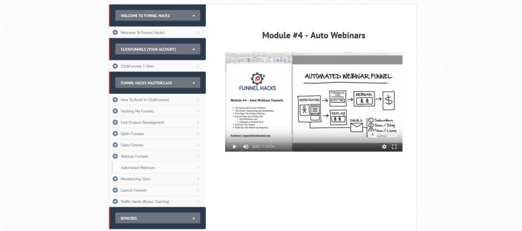 funnelhacks auto webinars