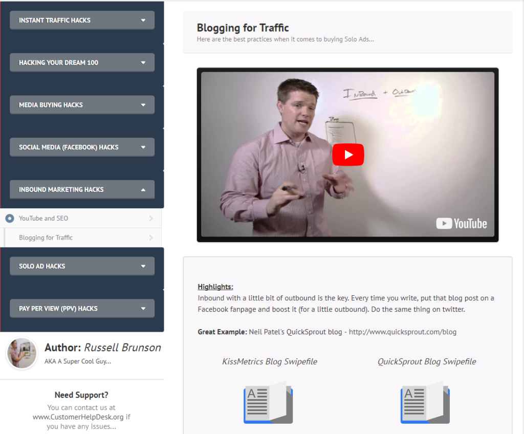 funnelhacks review blogging for traffic