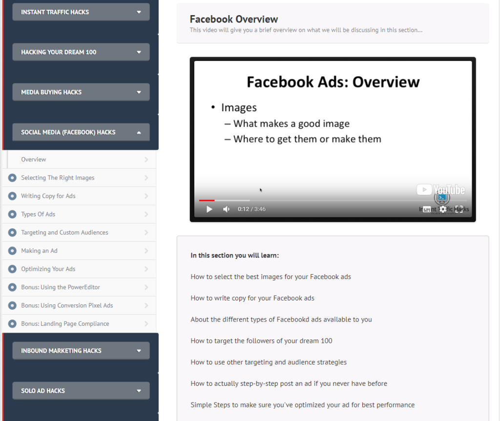 funnelhacks review facebook ads overview